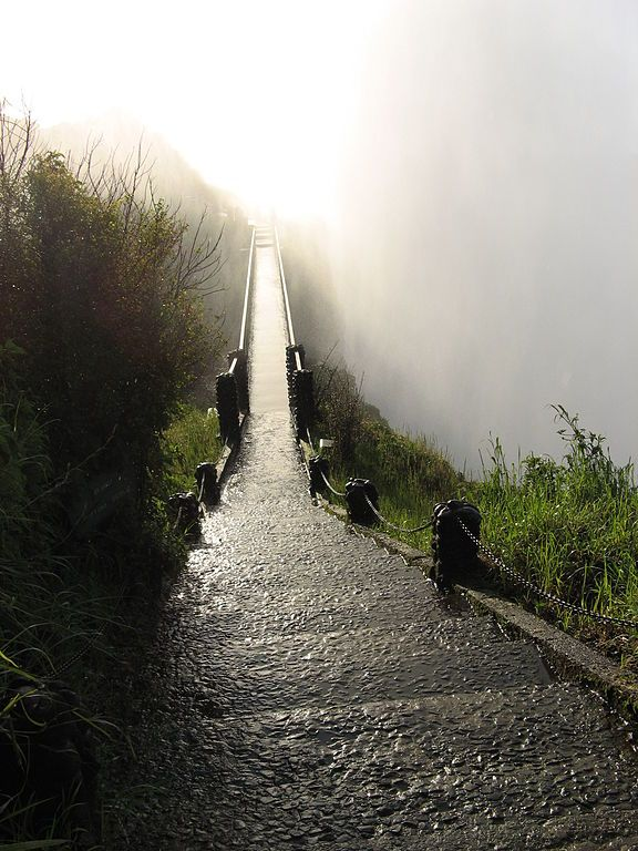 Haunting bridge in Zimbabwe, by Victoria Falls...