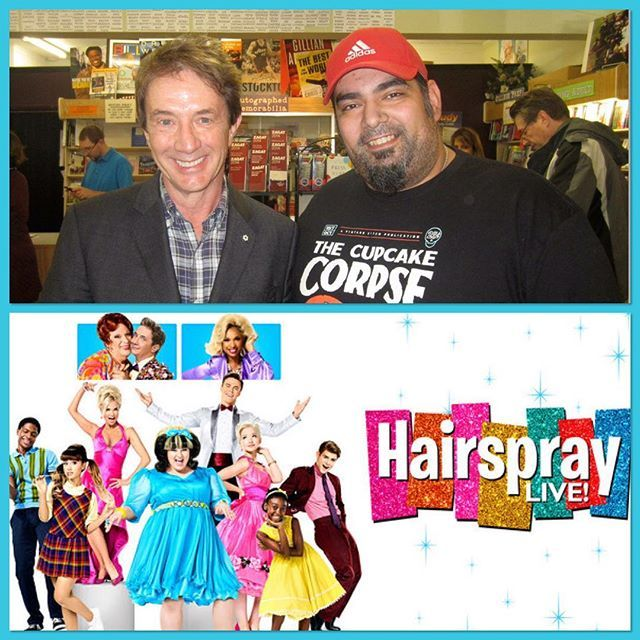 #tbt meeting actor, Martin Short, who was one of many stars featured in last night's NBC showing of HAIRSPRAY LIVE!  #throwbackthursday #celebrity #martinshort #hollywood #actor #canada #hairspray #hairspraylive #nbc #musical #broadway #nyc #kristinchenoweth #maddiebaillio #jenniferhudson #derekhough #arianagrande #harveyfierstein #threeamigos #snl #jiminyglick #fatherofthebride #edgrimley #markedout @markedout @nbcsnl @nbctv
