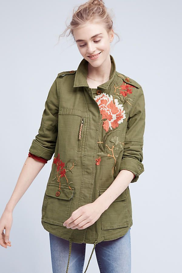 Slide View: 4: Embroidered Field Jacket