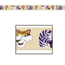 Party Tape Jungle -  Een lang lint om als versiering te gebruiken tijdens een jungle feest. Lengte: 6 meter. Ook leuk voor een kinderfeest of gewoon als decoratie in een kinderkamer.