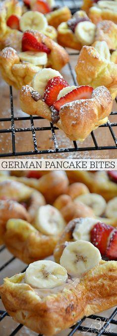 Recipes - German Pancake Bites at http://the36thavenue.com