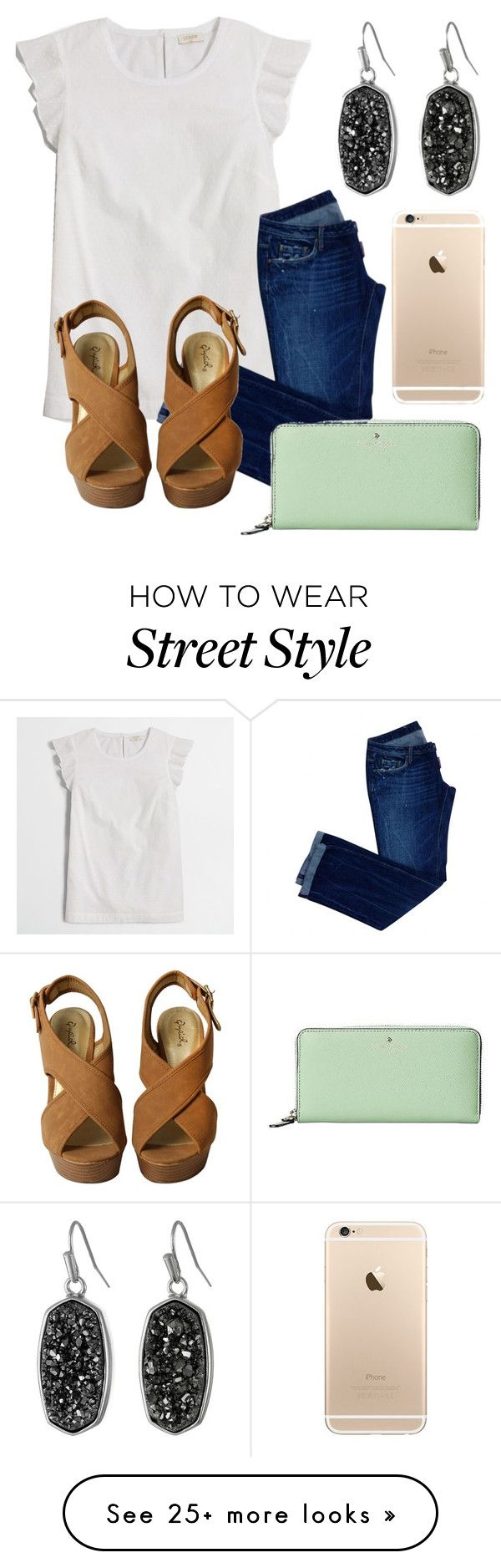 """""""Can't Hold Us"""" by pineapple-jorjor on Polyvore featuring J.Crew, Dsquared2, Kate Spade and Kendra Scott"""
