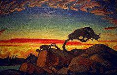 Group of Seven: Arthur Lismer: Evening Silhouette, Georgian Bay (1928) - Film Photograph of the Original (August, 1996) | Flickr - Photo Sha...
