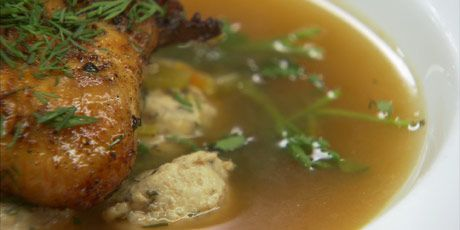 Chicken Soup with Ground Chicken Meatballs Recipes   Food Network Canada