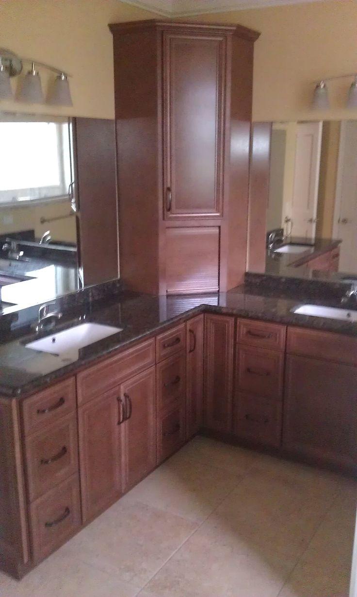Master bath vanity cabinet homecrest madison door style for Bathroom cabinets knoxville tn