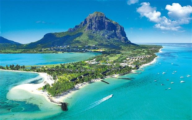 The fabulous Ile Maurice - Mauritius. Many a day I spent on a catamaran out on the coast of this beautiful island drinking rum!