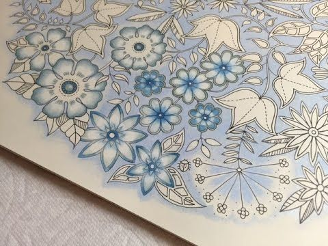 Blue Vintage Flowers Coloring Part