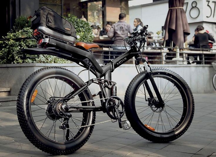 MOAR is the World's Most Powerful Full-Suspension, Fat Tire Folding Frame Electric Bicycle