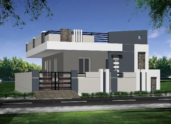 191 best house elevation indian single images on pinterest for Single floor house elevations indian style