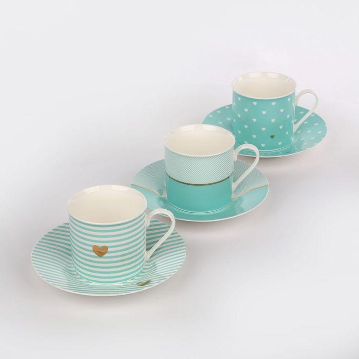 Filiżanka do kawy ze spodkiem 220 ml porcelana Tiffany - 0101004663 – Piękno w domu