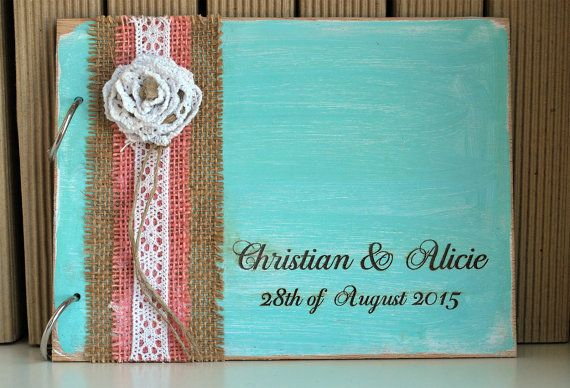 10% OFF Rustic Wedding  Flower Guest Book  by WoodYourDay on Etsy