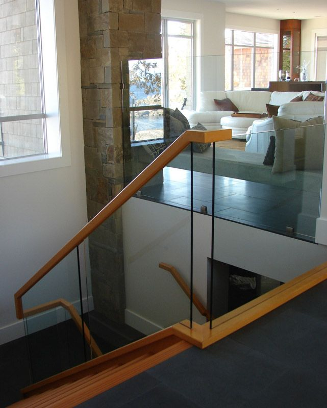 17 best images about interior railing on pinterest for Indoor glass railing