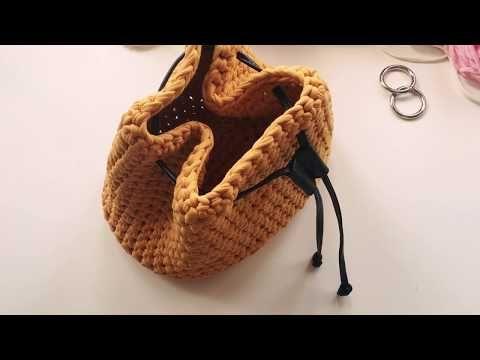 Подклад к трикотажной сумке торбе. Сумка торба. Подклад к вязаной сумке. Вязаная торба. Knits Bag. - YouTube