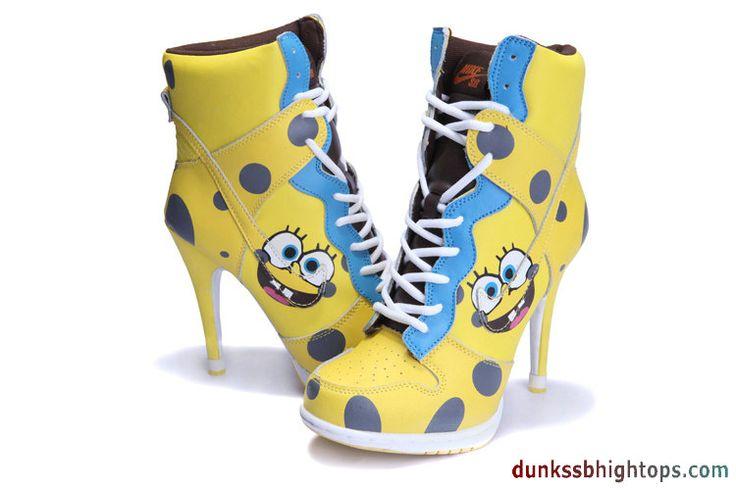 Nike Shoes With Orange Sponge At Heel