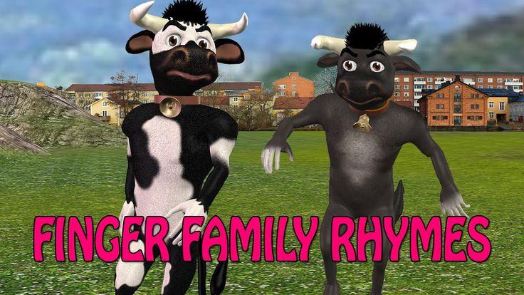 3d rhymes for children | 3d cow finger family | finger family songs for ...