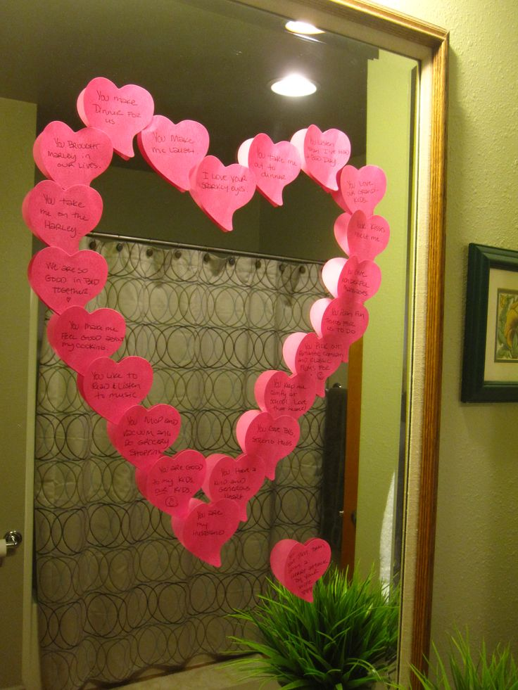 This morning, I gave my husband a HEART ATTACK!  Post-it Sticky Notes with all of the reasons I love him.
