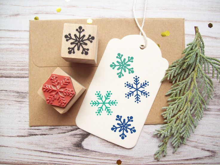 Snowflakes Rubber Stamp Set of 2, Decorating and Christmas Crafts, Holidays, Winter Theme by stampcouture on Etsy https://www.etsy.com/listing/111881285/snowflakes-rubber-stamp-set-of-2
