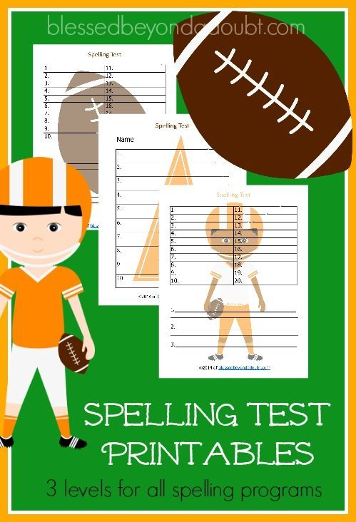 Make My Own Spelling Worksheet : Free football spelling test printables and