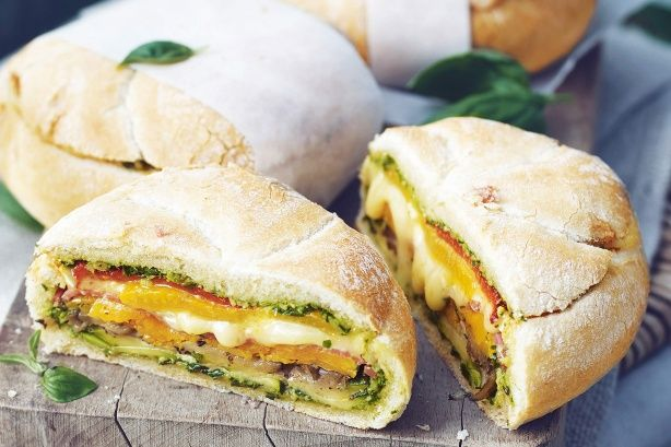 Bite into these homemade picnic loaves packed full of delicious seasonal veggies!