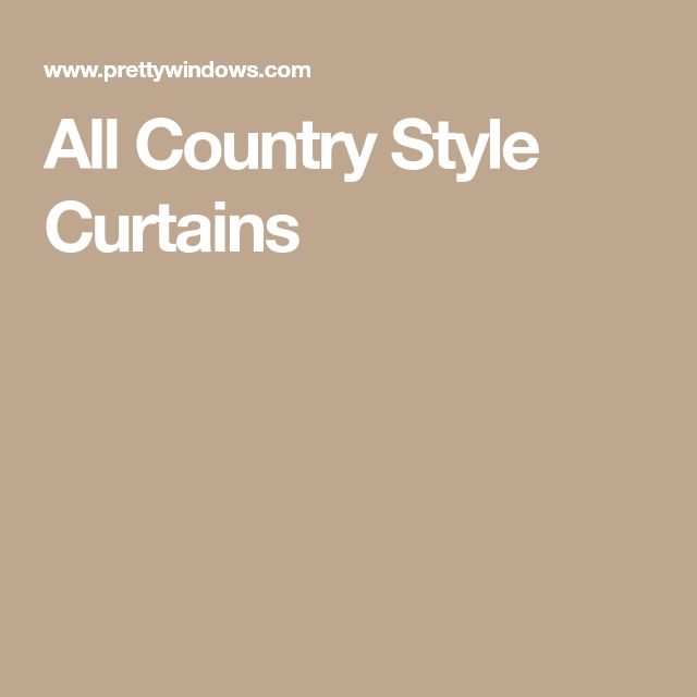 All Country Style Curtains