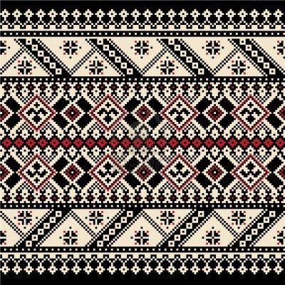 Vector illustration of ukrainian seamless pattern ornament Stock Photo