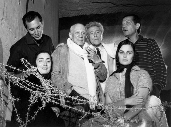 Dominguin, Jacqueline, Picasso, Jean Cocteau, Lucía Bosé y Serge Lifar - Lucien Clergue