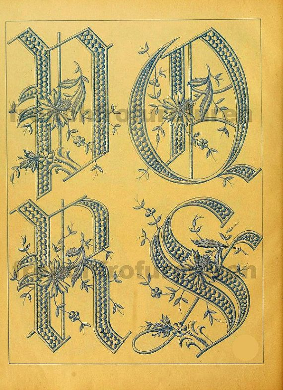 victorian writing alphabets