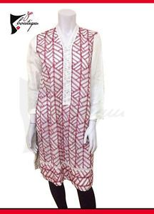 Agha Noor latest Silk White red embroidered shirt /medium size/ 2 piece  | eBay