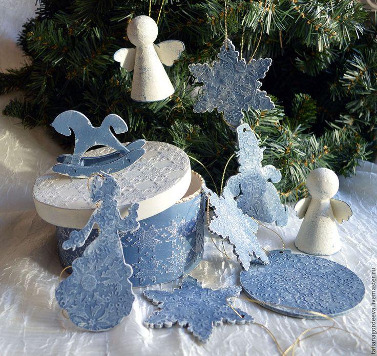 """Купить Набор  новогодних подвесок в коробе """"Бабушкины игрушки"""" - Новый Год, новогодний подарок"""