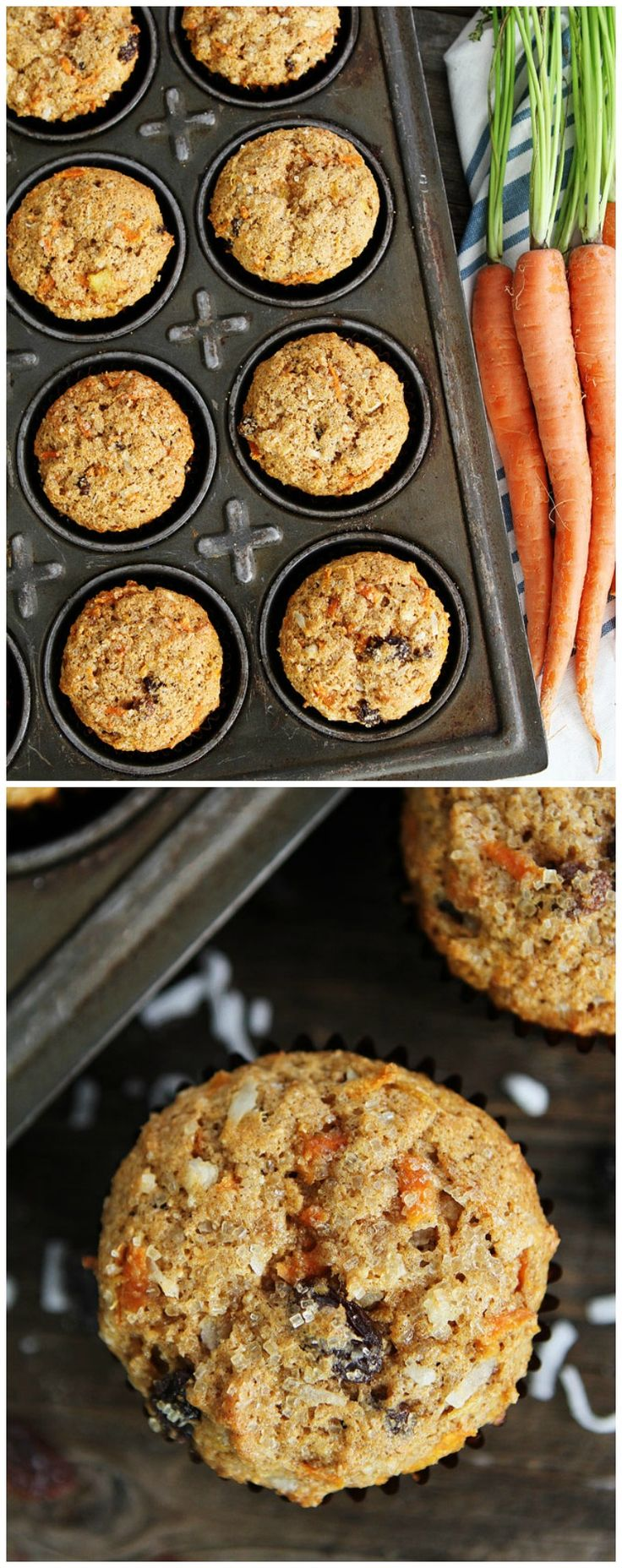 Morning Glory Muffin Recipe on twopeasandtheirpod.com  We love these healthy and delicious muffins! The perfect way to say good morning!