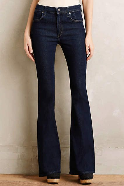 Citizens of Humanity Fleetwood Petite High-Rise Flare Jeans - anthropologie.com