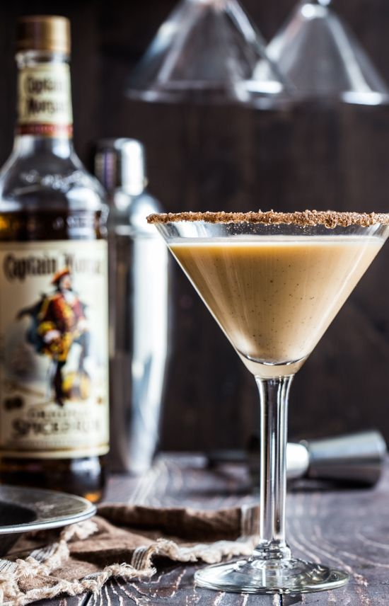 Pumpkin Eggnog Martini ~ sweet and very creamy,