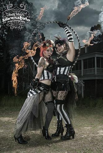 Deconstructed circus, tribal circus, circus savages, tattered circus, new old circus