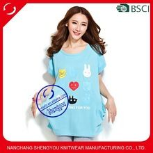 Custom wholesale womens printed extra long tshirt with side pocket  Best buy follow this link http://shopingayo.space