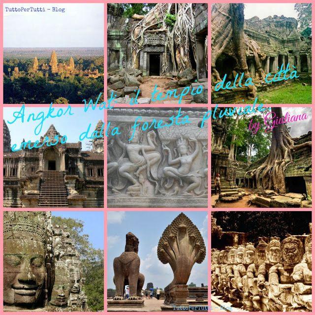 ANGKOR WAT: IL TEMPIO DELLA CITTÀ EMERSO DALLA FORESTA PLUVIALE by Giuliana Uno spettacolare viaggio in Cambogia alla scoperta del Tempio di Angkor Wat. http://tucc-per-tucc.blogspot.it/2015/09/angkor-wat-il-tempio-della-citta-emerso.html