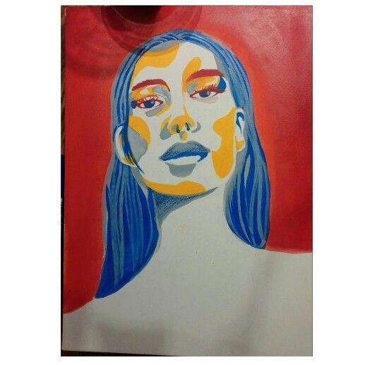 Piercing girl #acrylic #watercrayon