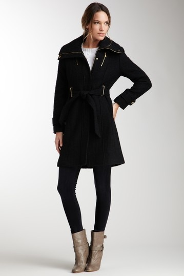 Kenneth Cole - Zip Front Belted TRench Coat