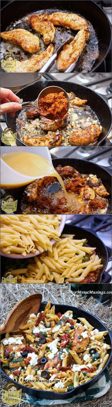 Menu Musings of a Modern American Mom: Mediterranean Chicken Pasta