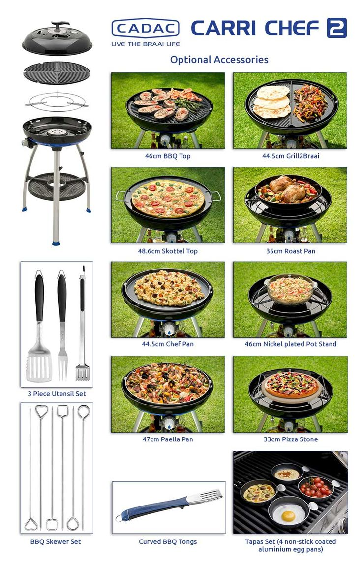 #Cadac #CarriChef2: Get the most out of your #BBQ with handy #accessories! #cooking #camping #grilling