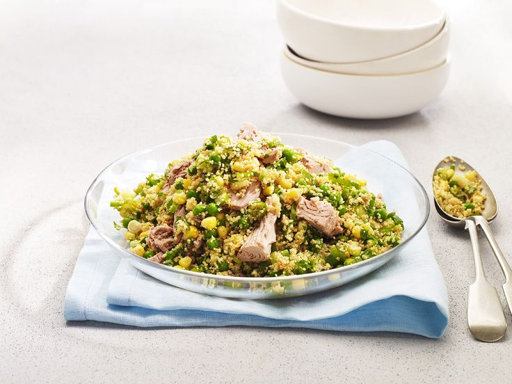 Salad Recipe - Quick Tuna and Couscous Salad  #recipe #healthyeating