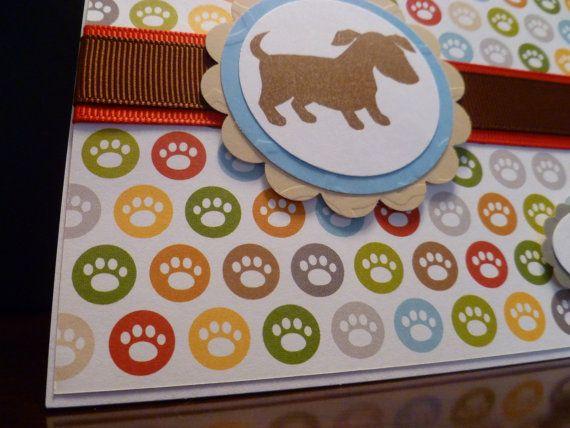 Handgemaakte hond sympathie kaart huisdier door FurryFriendsCardShop