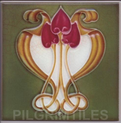 Art Nouveau / Arts & Crafts Ceramic Tiles / Plaque / Fireplace Kitchen Bathroom