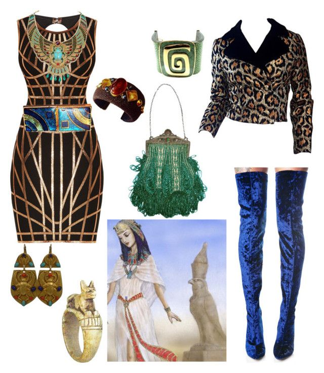 """""""Modern Egyptian Party"""" by hellenrose7292 on Polyvore featuring Hervé Léger, Cape Robbin, Askew London and modern"""