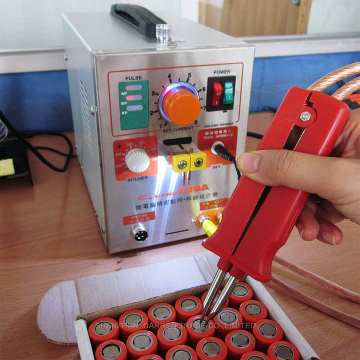 By DHL1pc1.9kw LED Pulse Battery Spot Welder 709A with Soldering Iron Station Spot Welding Machine for 18650 16430 14500 battery