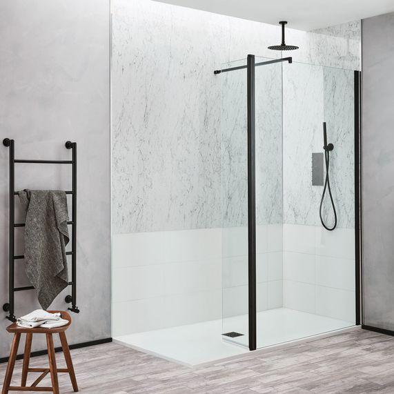 Noir Matt Black 1000 Walk In Shower Walk In Shower Walk In Shower Designs Shower Remodel