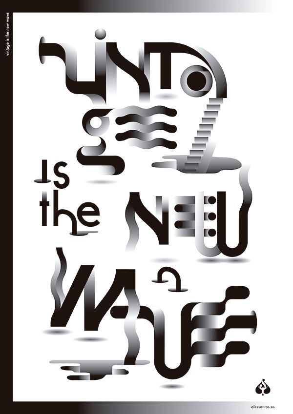 #Poster #Affiche #Typography #Black&White