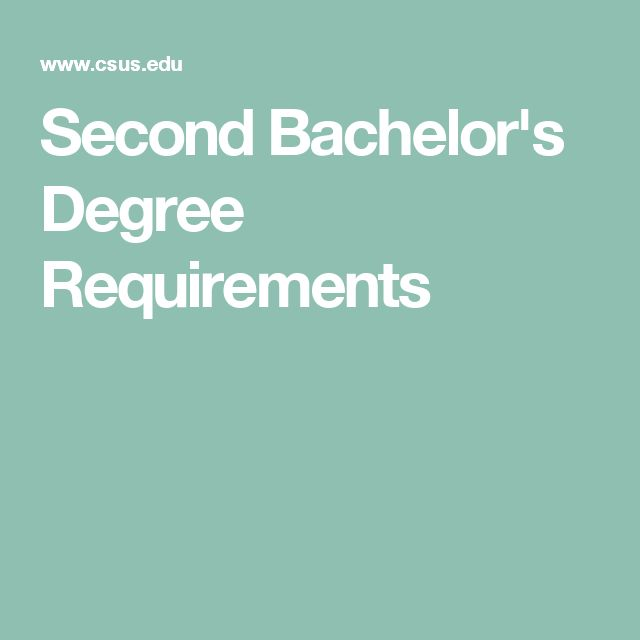Second Bachelor's Degree Requirements