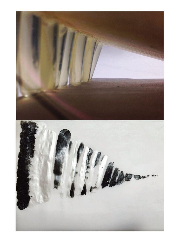 rythm, value, shadow. materials: glue, balsa wood.