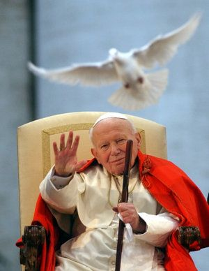 Pope John Paul II <>< what an example of how to be holy in your years of suffering... Saint to be, soon!