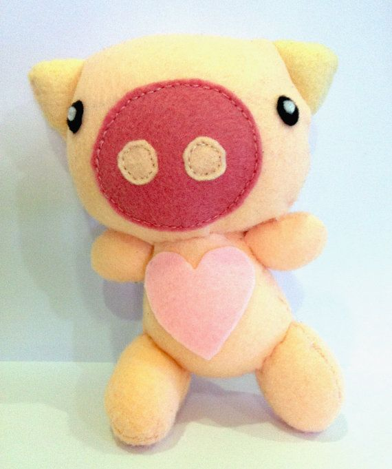 Percy Pig Plushie / Plush Stuffed Toy by Plushed on Etsy